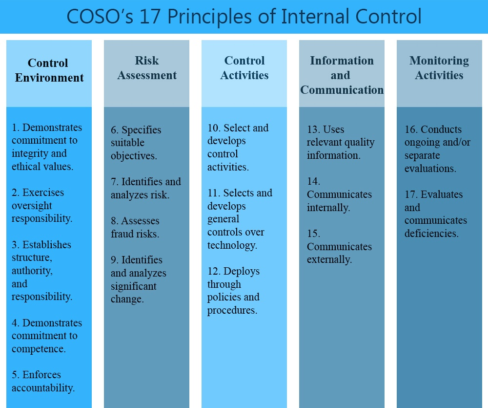 COSO's 17 Principles of Internal Control